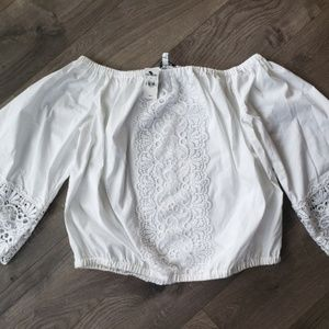 NWT Express off the shoulder womens top LRG